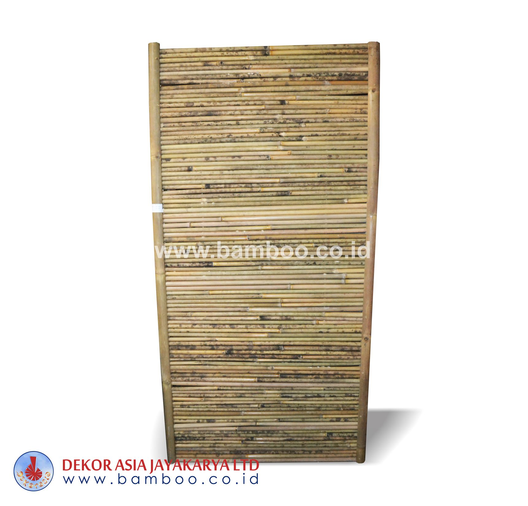 Natural bamboo fence frame horizontal - Bamboo fence natural