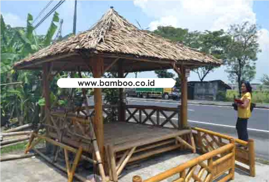 BAMBOO GAZEBO ROOF KNOCK DOWN SYSTEM, BAMBOO GAZEBO