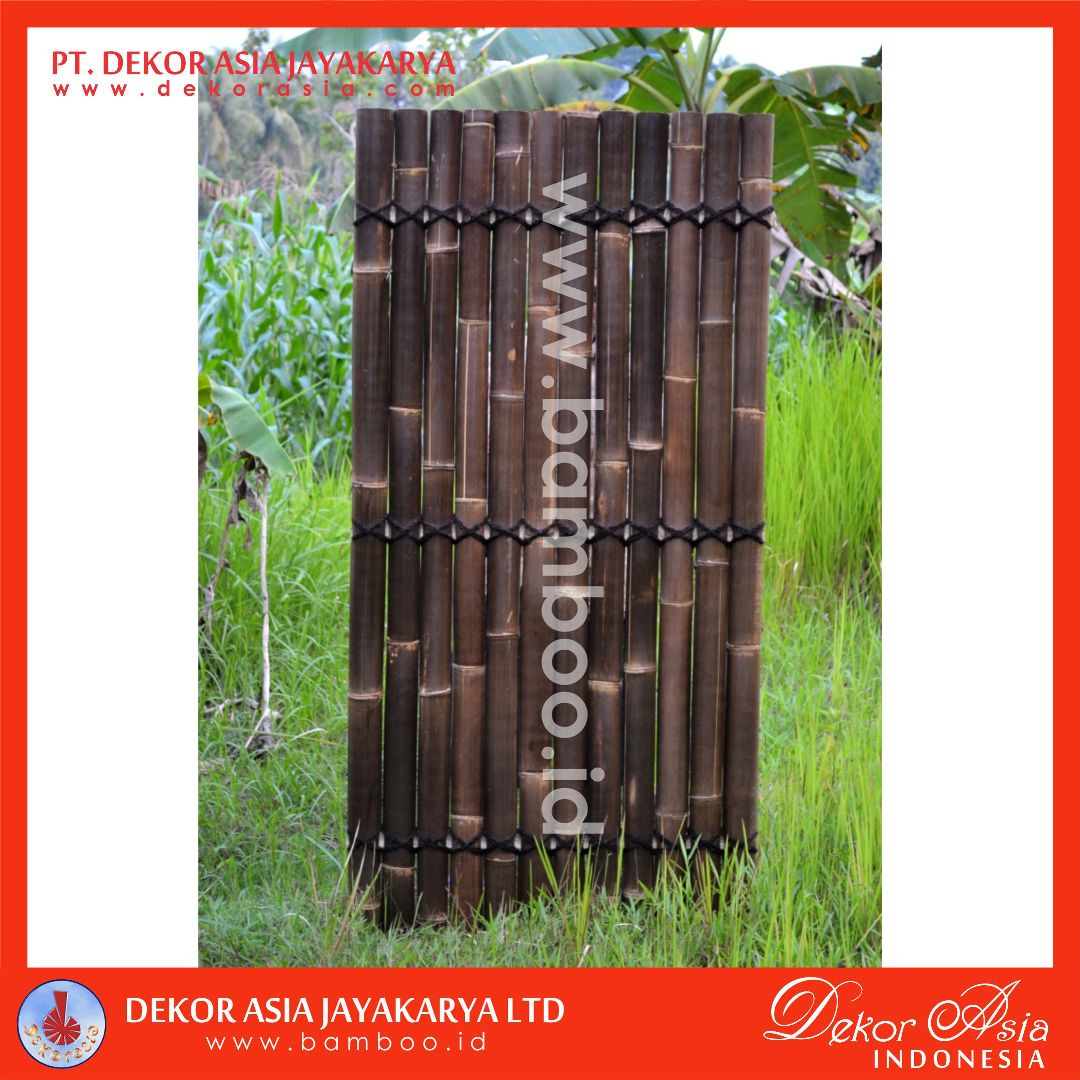 Bamboo Fencing and Screening With 3 Back Bamboo Slats